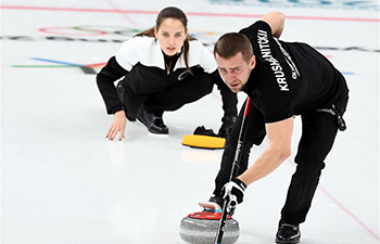 Olympic athletes from Russia claim bronze of mixed doubles curling match