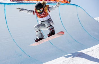Highlights of ladies' halfpipe finals of snowboard at PyeongChang Olympics