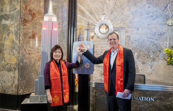 NYC Empire State Building shines for Chinese Lunar New Year
