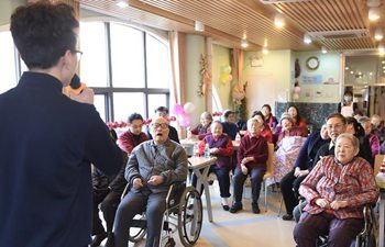 Activities held for aged people to celebrate Spring Festival in Beijing