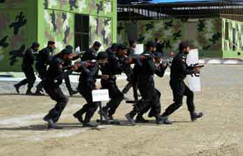 Police cadets display skills during passing out parade in Quetta
