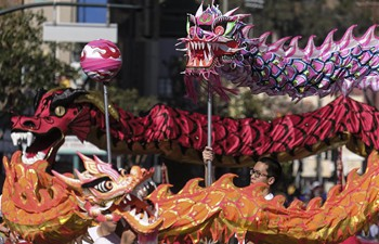 """Golden Dragon Parade"" held in LA to mark Chinese New Year"
