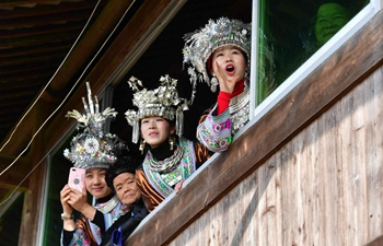 Villagers of Miao ethnic group celebrate Spring Festival in S China