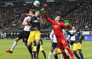 Eintracht Frankfurt wins RB Leipzig 2-0 in German Bundesliga