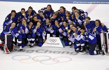 U.S. wins gold medal in women's ice hockey at PyeongChang Olympics