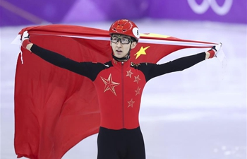 China's Wu Dajing wins 500m short track speed skating gold at PyeongChang Games