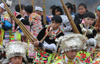 "Miao people participate in ""Tiaoyue"" in SW China"