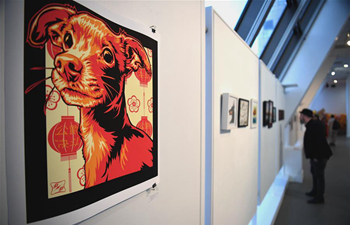 Dog-themed art exhibition held at Chinese Culture Center of San Francisco