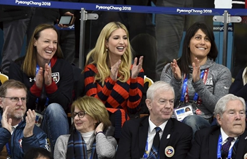 Ivanka Trump watches men's final curling match between U.S., Sweden at Winter Olympics
