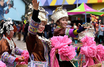 People of Miao ethnic group celebrate Manghao Festival in Guangxi