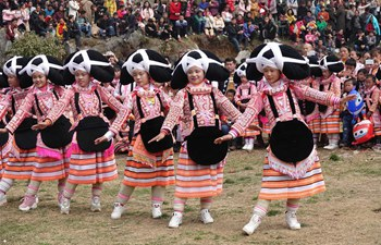 "Annual ""tiaohua"" festival held in SW China's Guizhou"