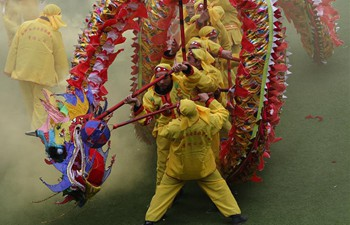 Dragon dance of Gelao ethnic group performed in Guizhou