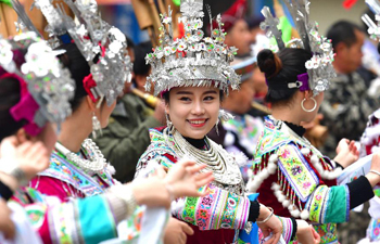 People of Miao ethnic group celebrate lusheng festival