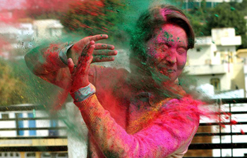 Holi festival celebrated by Hindu residents around world