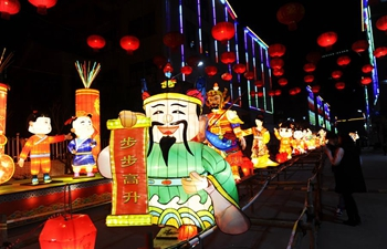 Lantern fairs held across China to greet upcoming Lantern Festival