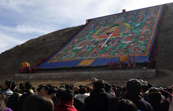 Labrang Monastery holds annual display of Buddha thangka