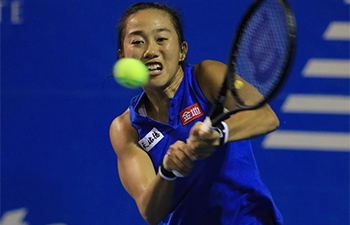 Zhang Shuai advances to next round of Mexican Open tennis tournament