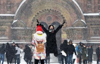 Heavy snowfall hits NE China's Heilongjiang Province