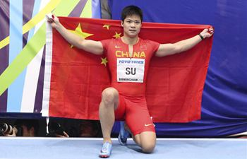 China's Su Bingtian makes history to win men's 60m silver