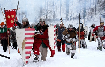 Actors re-enact Battle of Samobor in Croatia