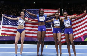 In pics: winners of women's 4x400m relay final at IAAF World Indoor Championships