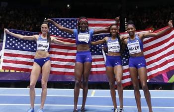 In pics: winners of women's 4x400m relay final at IAAF World Indoor Championships