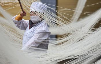 Suiyang's traditional hollow noodle helps increase employment rate