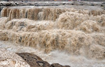 In pics: Hukou Waterfall of Yellow River in N China's Shanxi