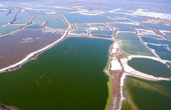 Aerial photos of salt lakes in China's Shanxi