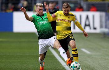 Hannover, Dortmund compete in Bundesliga soccer match