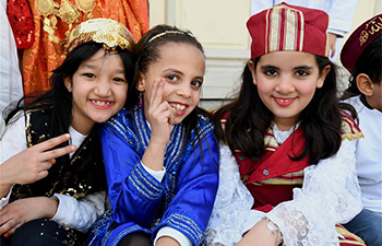 Tunisian kids celebrate National Day of Tunisa Traditional Dress