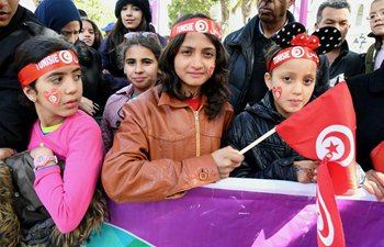People celebrate 62nd anniv. of Tunisia's independence