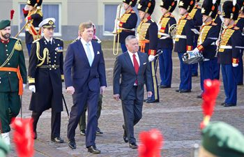 Jordan King Abdullah II arrives in The Hague for official visit to the Netherlands
