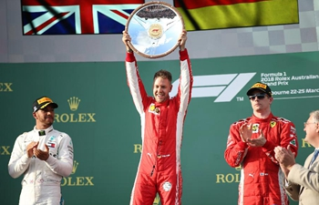 Ferrari's Sebastian Vettel of Germany wins Australian Formula One Grand Prix