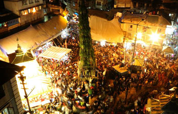 Beginning of Seto Machhendranath Chariot festival marked in Kathmandu