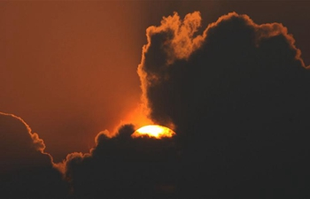 Sunset view in Kathmandu, Nepal