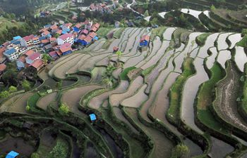 Village scenery in southwest China's Guizhou