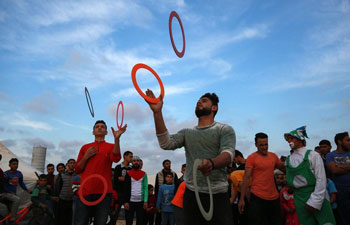 """Great March of Return"" mass rally held near border between E Gaza Strip and Israel"