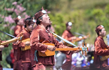 People of Dong ethnic group take part in singing party in China's Hunan