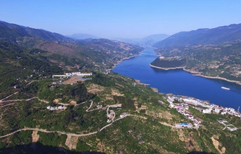 Aerial view of village roads in SW China's Chongqing