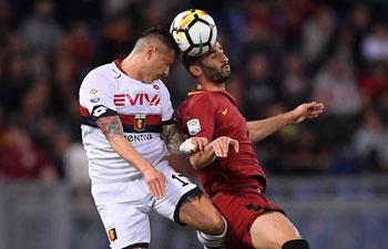 Serie A: Roma beats Genoa 2-1
