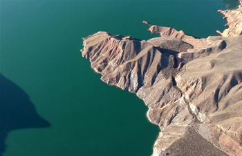 Aerial view of Kanbula national park in China's Qinghai