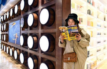 Bookstore in ocean-themed style attracts readers in east China's Qingdao