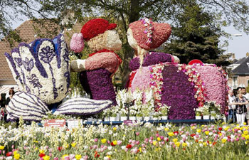 Annual Flower Parade held in Lisse, the Netherlands