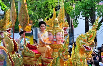 Phra Pradaeng Songkran Festival celebrated in Thailand
