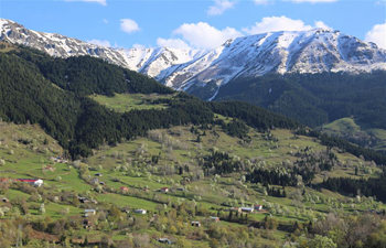 Spring scene of Savsat town in Artvin, Turkey