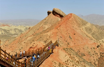 In pics: Danxia National Geopark in NW China's Gansu