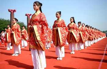 Coming-of-age ceremony held in Xi'an, NW China's Shaanxi