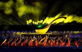 In pics: light show in Xi'an, China's Shaanxi