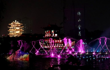 Water show dazzles Daming Lake in Jinan, east China